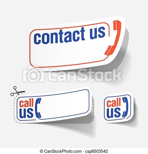 contattarci, etichette - csp6503542