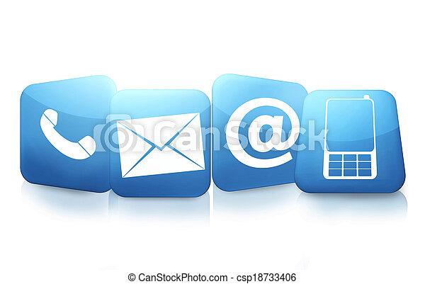 contattarci, icone - csp18733406