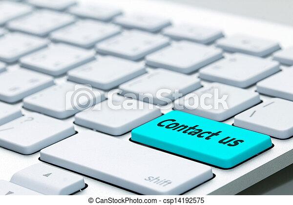 contatto, parola, ci, tastiera - csp14192575