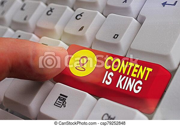 conteúdo, results., visibilidade, letra, conceito, significado, non, crescendo, marketing, pago, busca, king., texto, focalizado - csp79252848