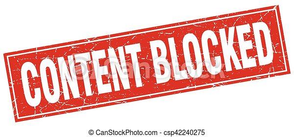 conteúdo, selo, quadrado, bloqueado - csp42240275