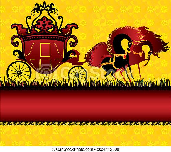 conte, carriage., fée - csp4412500