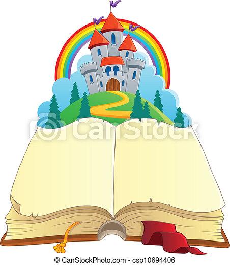 conte, image, 1, thème, livre, fée - csp10694406