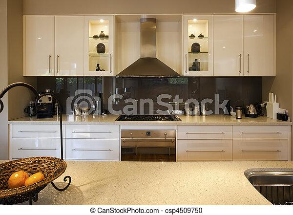 contemporâneo, cozinha - csp4509750