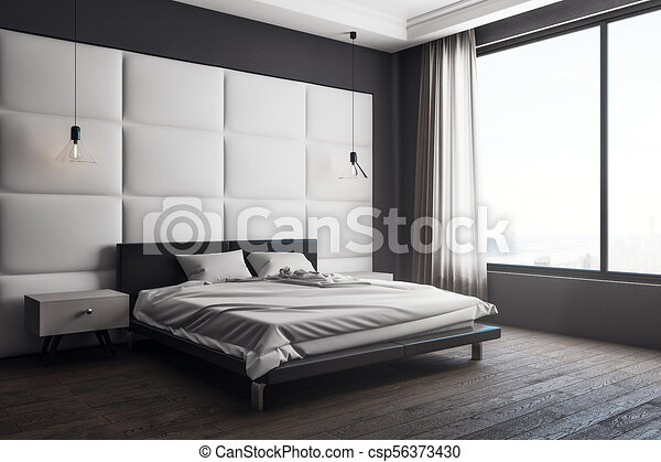 Contemporary Bedroom Interior With Copy Space Furniture And Window With Daylight Mock Up 3d Rendering