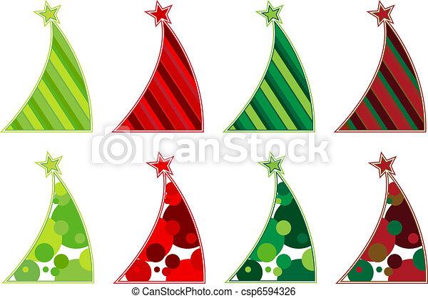 Contemporary Christmas trees - csp6594326