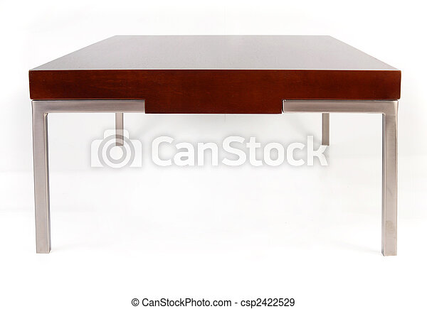Contemporary coffee table isolated on white - csp2422529