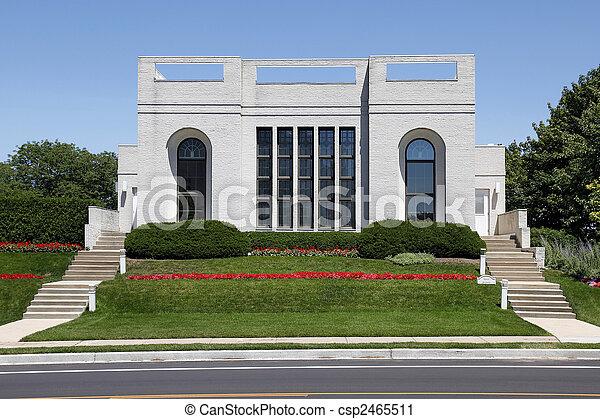 Contemporary home in suburbs - csp2465511