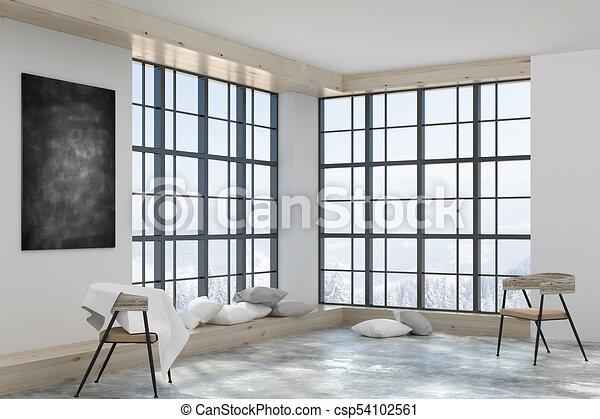 Contemporary Interior With Decorative Items Contemporary Interior