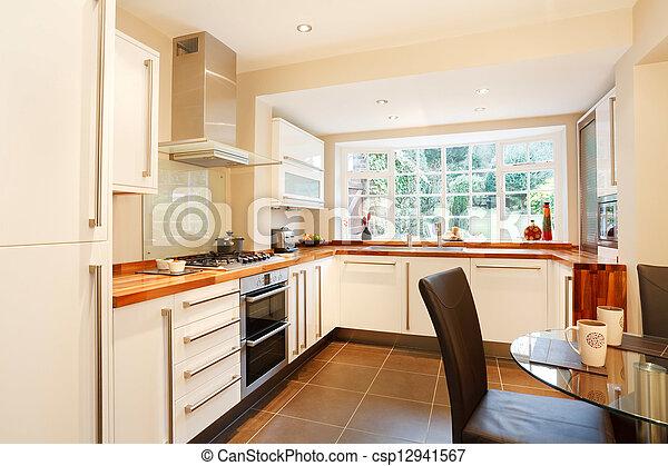 Contemporary kitchen - csp12941567