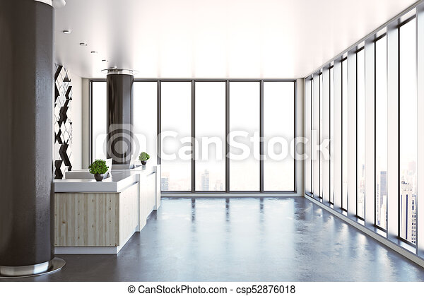 contemporary office. Exellent Office Contemporary Office Reception Side  Csp52876018 To Office