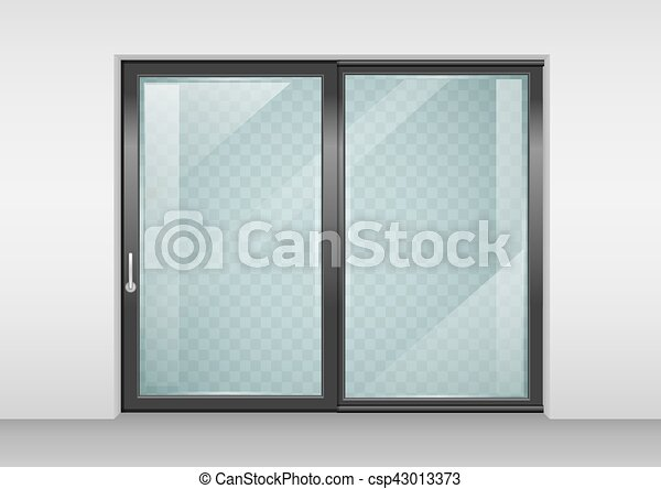 Contemporary sliding door - csp43013373 & Contemporary sliding door. Modern wide sliding door with... vectors ...