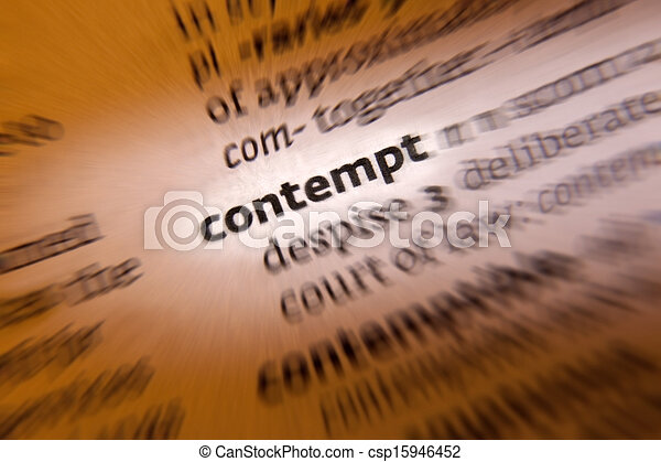 Contempt- Dictionary Definition - csp15946452