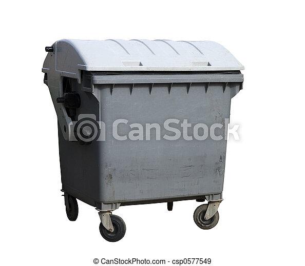 Un contenedor de basura - csp0577549