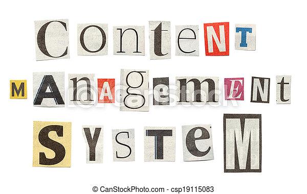 Content management system cutout newspaper letters content content management system cutout newspaper letters csp19115083 spiritdancerdesigns Gallery