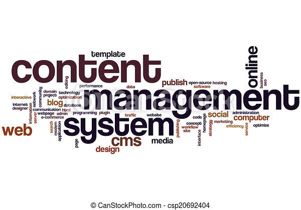 Content management system word cloud - csp20692404