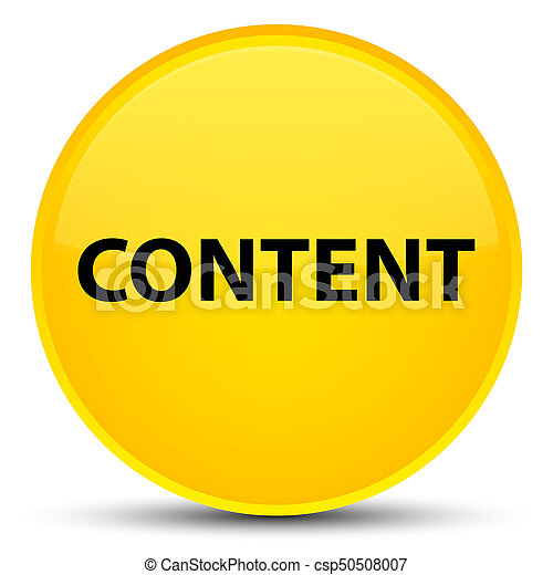 Content special yellow round button - csp50508007
