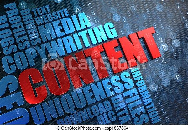 Content - Wordcloud Concept. - csp18678641