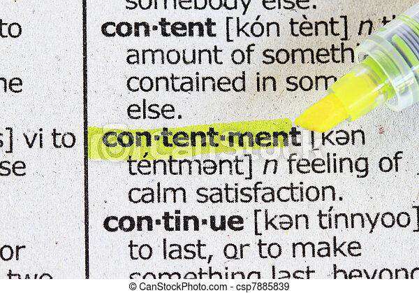 Contentment - csp7885839