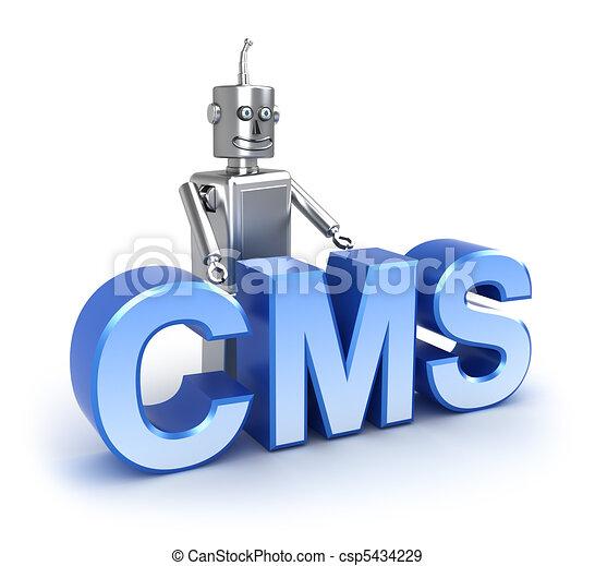 contenu, :, gestion, cms, système - csp5434229