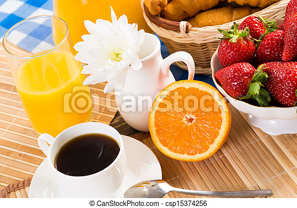 continental breakfast - csp15374256