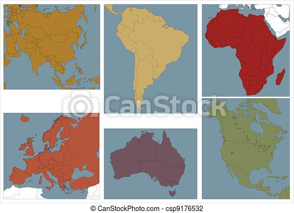 continents. - csp9176532