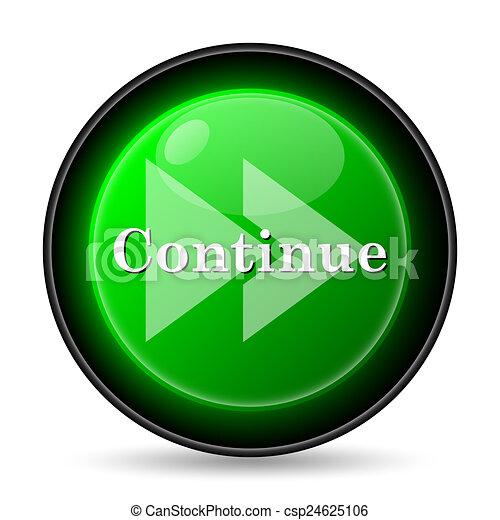 Continue icon - csp24625106