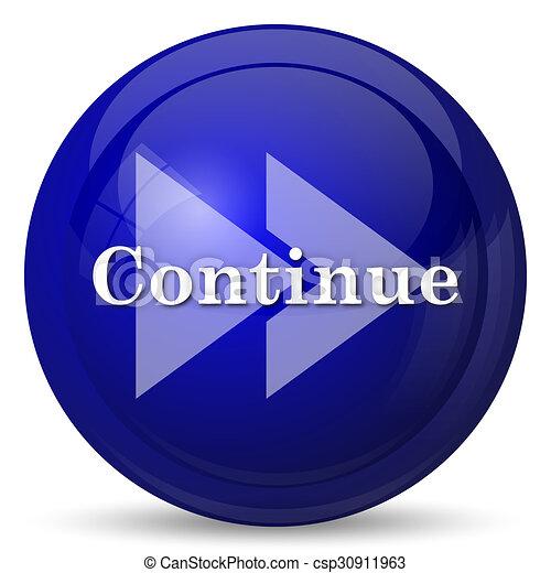 Continue icon - csp30911963