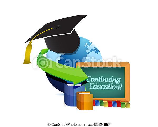 Continuing education concept illustration - csp83424957