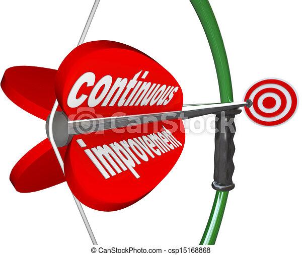 Continuous Improvement Bow Arrow Constant Better Progress - csp15168868