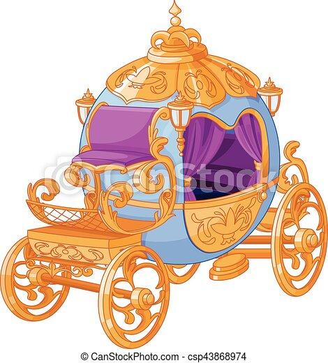 conto, fada, cinderela, carruagem - csp43868974