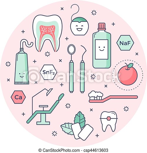 clip art vectorial de contorneado  iconos  sobre dentist clip art funny dentistry clip art