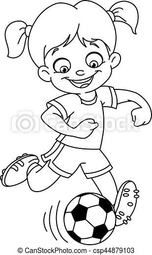 La chica del fútbol - csp44879103