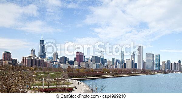 La línea aérea de Chicago - csp4999210