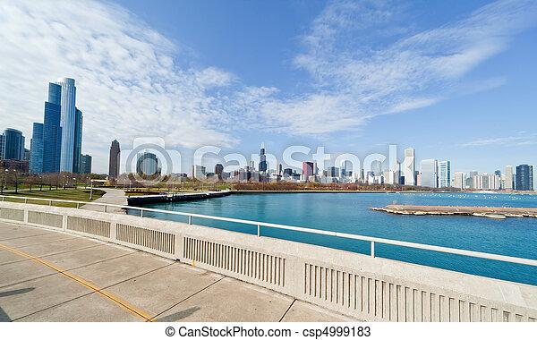 La línea aérea de Chicago - csp4999183