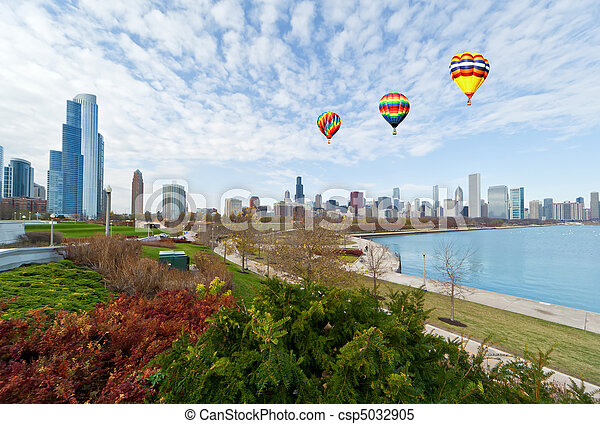 La línea aérea de Chicago - csp5032905