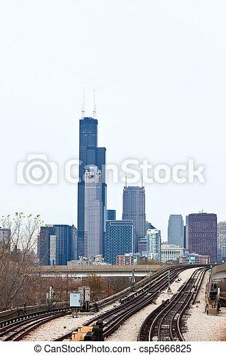 La línea aérea de Chicago - csp5966825