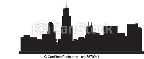 El horizonte de Chicago - csp5679241