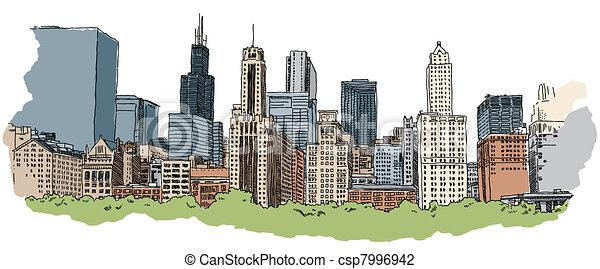 contorno, chicago - csp7996942