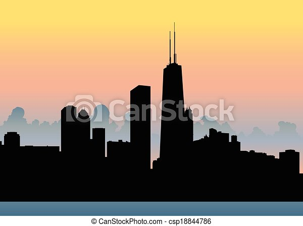 El horizonte de Chicago - csp18844786