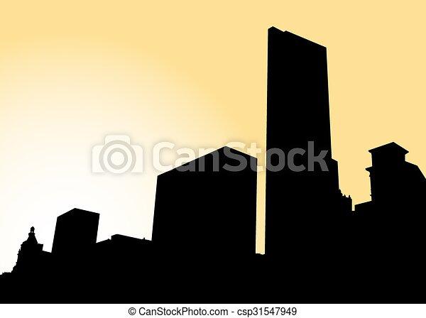 El horizonte de Chicago - csp31547949