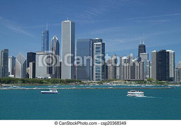 El horizonte de Chicago - csp20368349