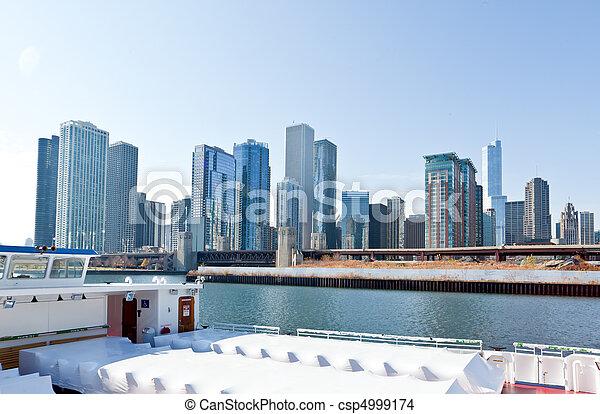 La línea aérea de Chicago - csp4999174