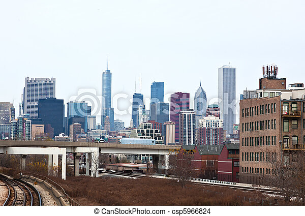 La línea aérea de Chicago - csp5966824