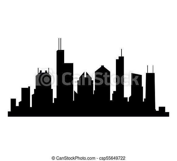 El horizonte de Chicago - csp55649722