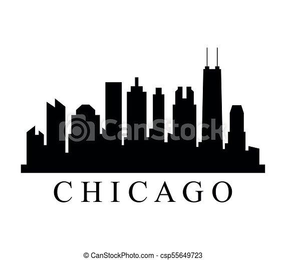El horizonte de Chicago - csp55649723