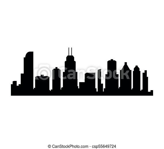 El horizonte de Chicago - csp55649724