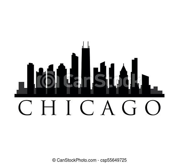 El horizonte de Chicago - csp55649725