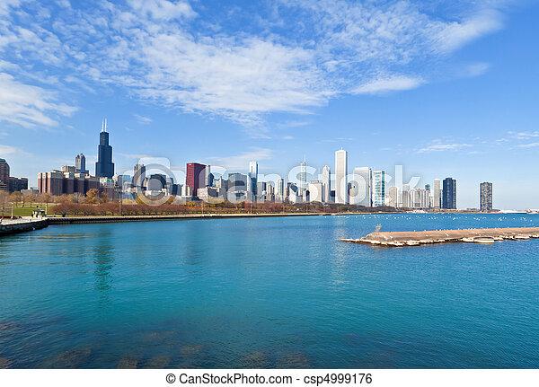 La línea aérea de Chicago - csp4999176