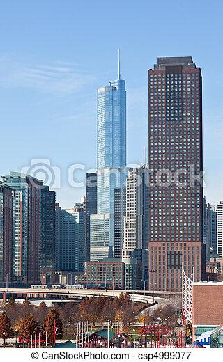 La línea aérea de Chicago - csp4999077